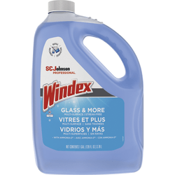 Windex® Glass Cleaner With AMMONIA-D, 128 Oz, Blue