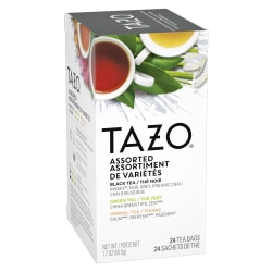Tazo® Assorted Flavored Tea Bags, Carton Of 24