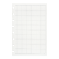 TUL® Discbound Refill Pages, Junior Size, Graph Ruled, 600 Pages (300 Sheets), White