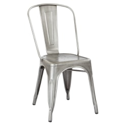 Office Star™ Bristow Armless Chair, Brushed Silver, Set Of 2 Chairs