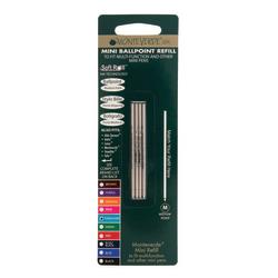 Monteverde® Mini Ballpoint Pen Refills, Medium Point, 0.7 mm, Turquoise Ink, Pack Of 4