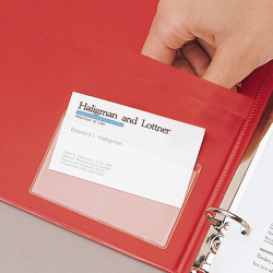 """Cardinal® HOLDit!® Business Card Pockets, Side Loading, 3 3/4"""" x 2 3/8"""", Pack Of 10"""