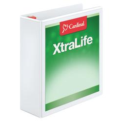 """Cardinal® XtraLife™ Locking Slant-D® Ring 3-Ring Binder, 3"""" D-Rings, 55% Recycled, White"""