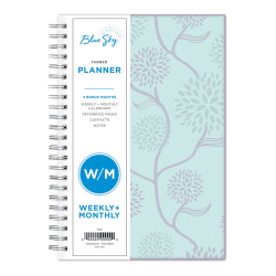 "Blue Sky™ Weekly/Monthly Planner, 5"" x 8"", Rue Du Flore, January to December 2021, 101603"