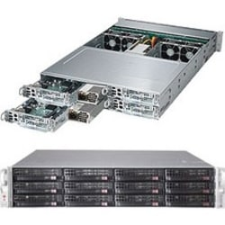 Supermicro SuperServer 6028TP-HTR Barebone System - 2U Rack-mountable - Intel C612 Express Chipset - 4 Number of Node(s) - 2 x Processor Support - Black - 1 TB DDR4 SDRAM DDR4-2133/PC4-17000 Maximum RAM Support - Serial ATA/600 RAID Supported Controller
