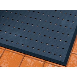 """M + A Matting CompleteComfort Antimicrobial Floor Mat With Holes, 48"""" x 72"""", Black"""