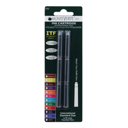Monteverde® Standard-Size Fountain Pen Ink Cartridge Refills, Brown, Pack Of 6 Refills