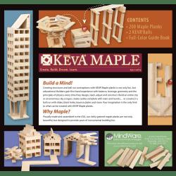 KEVA Maple Plank Set, 200-Plank