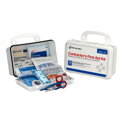 First Aid Only 10-Person Contractors, White, 96 Pieces