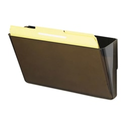 deflect-o Magnetic DocuPocket Wall File, Letter, 13 x 7 x 4, Smoke