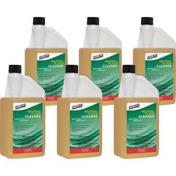 Genuine Joe Neutral Floor Cleaner - Concentrate Liquid - 32 fl oz (1 quart) - 6 / Carton - Yellow