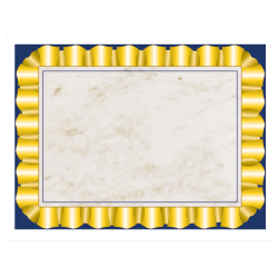 """Hayes® Certificate Paper With Gold Ribbon Border, 8 1/2"""" x 11"""", 20 Lb, Cream, 50 Sheets"""