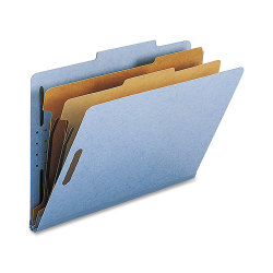 Nature Saver 2-Divider Classification Folders, Legal Size, Blue, Box Of 10