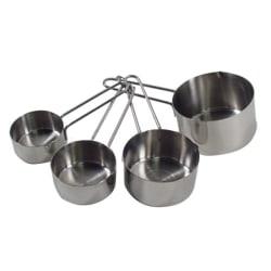 Update International 4-Piece Measuring Cup Set, Silver