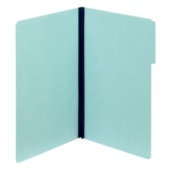 Nature Saver Pressboard Fastener Folders, Legal Size, 100% Recycled, Light Blue, Box Of 25