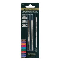 Monteverde® Ballpoint Refills For Montblanc Ballpoint Pens, Medium Point, 0.7 mm, Purple Ink, Pack Of 2