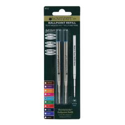 Monteverde® Ballpoint Refills For Montblanc Ballpoint Pens, Medium Point, 0.7 mm, Turquoise Ink, Pack Of 2