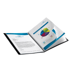 Office Depot® Brand Bound Presentation Book With 12 Pockets, Black