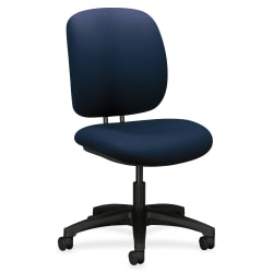 HON® ComforTask 5900 Series Armless Task Chair, Navy/Black