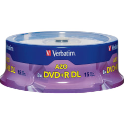 Verbatim® DVD+R Double-Layer Disc Spindle, Pack Of 15