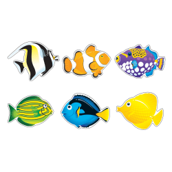 TREND Classic Accents® Fish Friends Accents, Multicolor, Pre-K - Grade 8, Pack Of 36