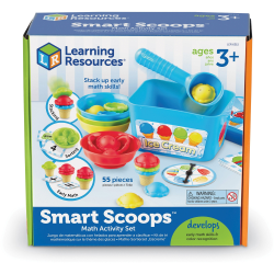 Learning Resources Smart Scoops Math Activity Set - Theme/Subject: Learning - Skill Learning: Mathematics, Counting, Sorting, Sequencing, Twist, Color Identification, Educational, Stacking - 3 Year & Up - 55 Pieces