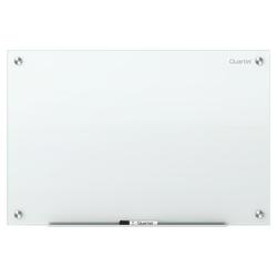 """Quartet Infinity™ Frameless Glass Dry-Erase Board, Non-Magnetic, 72"""" x 48"""", White"""