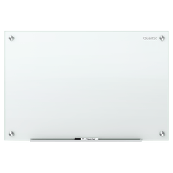 "Quartet® Infinity™ Unframed Glass Non-Magnetic Dry-Erase Whiteboard, 72"" x 48"", White"