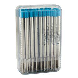 Monteverde® Soft Roll Parker® Style Ballpoint Refills, Medium Point, 0.7 mm, Turquoise, Pack Of 50