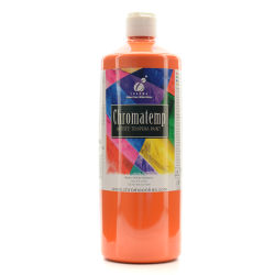 Chroma ChromaTemp Artists' Tempera Paint, 32 Oz, Orange