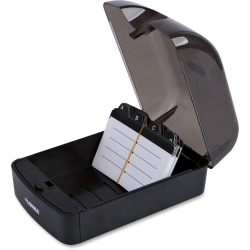Lorell® Card File, 350 Cards, Black