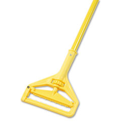 Boardwalk® Quick-Change Side-Latch Mop-Head Handle, Yellow