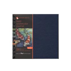 "Hand Book Journal Co. Field Watercolor Journals, 6"" x 6"", 24 Sheets, Deep Blue, Pack Of 2"