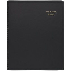 """AT-A-GLANCE® 18-Month Academic Monthly Planner, 9"""" x 11"""", Black, July 2021 To December 2022, 700740522"""