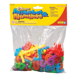Educational Insights Magnetic Letters And Numbers, Assorted Colors, Pack Of 99