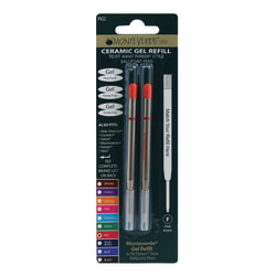 Monteverde® Parker® Style Capless Ceramic Gel Refills, Fine Point, 0.5 mm, Red, Pack Of 2 Refills