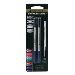 Monteverde® Ballpoint Refills For Sheaffer Ballpoint Pens, Medium Point, 0.7 mm, Blue/Black, Pack Of 2 Refills