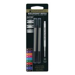 Monteverde® Ballpoint Refills For Sheaffer Ballpoint Pens, Medium Point, 0.7 mm, Black, Pack Of 2 Refills