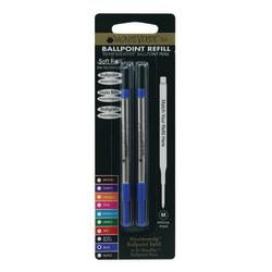 Monteverde® Ballpoint Refills For Sheaffer Ballpoint Pens, Medium Point, 0.7 mm, Blue, Pack Of 2 Refills