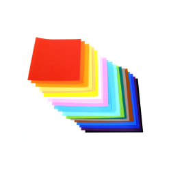 """Yasutomo Fold'ems Origami Paper, 9 3/4"""", Assorted Bright Colors, Pack Of 100"""
