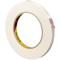 "3M™ 897 Medium-Grade Filament Tape, 3"" Core, 0.5"" x 180', Clear, Case Of 12"