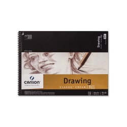 """Canson Classic Cream Drawing Pad, 18"""" x 24"""", 24 Sheets"""