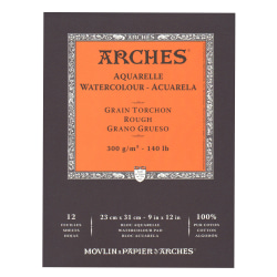 """Arches® Watercolor Pads, 9"""" x 12"""", Rough, 140 Lb, White, Pack Of 2"""