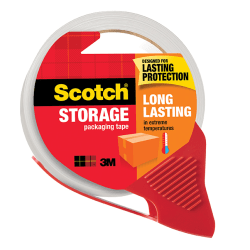 "Scotch® Long Lasting Storage Packaging Tape With Dispenser, 1 7/8"" x 54.6 Yd, Clear"