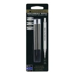 Monteverde® Rollerball Refills For Sheaffer Rollerball Pens, Fine Point, 0.5 mm, Black, Pack Of 2 Refills
