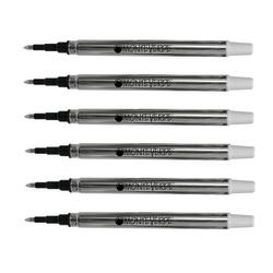 Monteverde® Rollerball Refills For Sheaffer Rollerball Pens, Fine Point, 0.5 mm, Blue/Black, Pack Of 6 Refills
