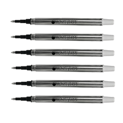 Monteverde® Rollerball Refills For Sheaffer Rollerball Pens, Fine Point, 0.5 mm, Black, Pack Of 6 Refills