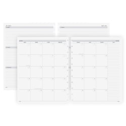TUL® Discbound Academic Weekly/Monthly Planner Refill Pages, Letter Size, July 2021 To June 2022