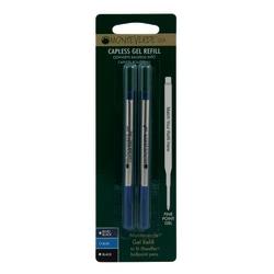 Monteverde® Rollerball Refills For Sheaffer Rollerball Pens, Fine Point, 0.5 mm, Blue, Pack Of 25 Refills