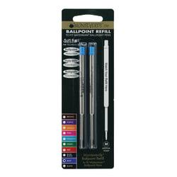 Monteverde® Ballpoint Refills For Waterman Ballpoint Pens, Medium Point, 0.7 mm, Blue, Pack Of 2 Refills